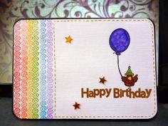 Rainbow birthday card - blog post