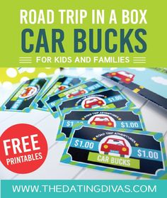 Road-Trip-in-a-Box-Kids-Car-Bucks: What a great idea to keep kids busy and motivated on road trips.