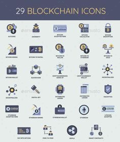 Cryptocurrency - Bitcoin & Blockchain Icon Set - GraphicRiver #icon #GraphicDesign #design #IconDesign #BestDesignResources
