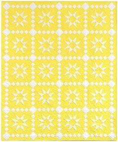 ⭐️ Lemon Stars quilt designed by @darlene_zimmerman_ ! ⭐️This pattern will be #freeatrobertkaufmandotcom  in March 2016  #KonaCOTY #KonaCotton