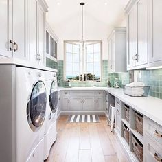 """1,250 Likes, 17 Comments - Style Me Pretty Living (@smpliving) on Instagram: """"Is it just us or do these laundry rooms keep getting nicer and nicer?! #SMPLoves   Photography:…"""""""