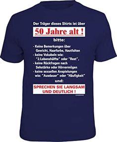 Dieses T-Shirt passt perfekt für den Geburtstag!  #50er #Geburtstag #Birthday #Party #Feiern #HappyBirthday #Spruch #Werbung Herren Outfit, Mode Online, Branded T Shirts, Alter, Under Armour, Mens Tops, Inspiration, Party, Material