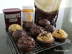 Chocolate protein cupcakes for our training! Marathon here we comeeeee