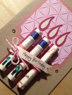 Kerzen aus Geld zum Geburtstag