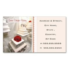Custom Bakery / Wedding Cakes  Business Card