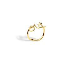 Ring oui, aus 750er gelbgold mit diamant -  Dior