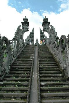 Pura Besakih, Indonesia- Bali's most sacred site, this series of 23 temples is perched more than 3,000 feet up, on the south slopes of Mount Agung.