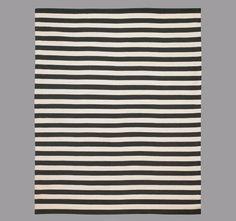 Draper Stripe Ink Rug eclectic rugs