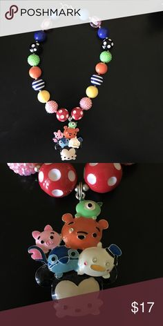 Tsum Tsum chunky bubblegum necklace Handmade, high quality Tsum Tsum chunky bubblegum necklace. Simply pair with your little cuties outfit or as a prop for a photo shoot! Disney Jewelry Necklaces