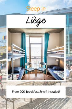 Sleep in Liège ! From breakfast and wifi included. Hostel, Wifi, Sleep, Breakfast, Bed, Furniture, Home Decor, Bed Drapes, Morning Coffee