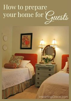 Getting to the heart of hospitality: lots of easy tips for preparing your home for overnight guests.  ImpartingGrace.com