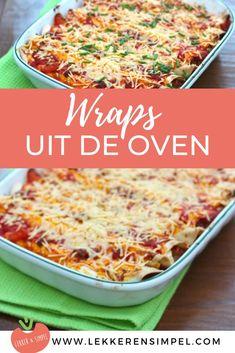 Een van onze favoriete ovenschotel recepten en tegelijk een van onze favoriete wraps recepten: wraps met gehakt uit de oven. Regelmatig verschijnt dit gerecht bij ons op tafel! Klik op de foto om het recept te bekijken.