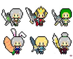League of Legends - Riven all skin Pixelated More information at https://www.facebook.com/mountaindwg