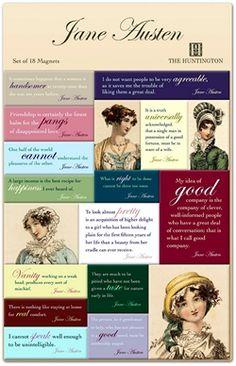 Jane Austen quote magnet set!