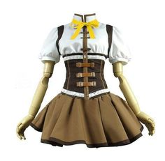 CosEnter Anime Puella Magi Madoka Magica Mami Tomoe Cosplay Costume ** Click on the image for additional details.