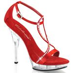 Leave them at lost for words in these Pleaser ankle strap sandals.