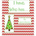Christmas Sight Word Game- I have, who has...