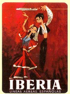 Iberia - Lineas Aereas de Espana sticker  1950s