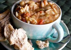 Vegetable and Orzo Soup http://www.prevention.com/food/cook/freezer-friendly-recipes-to-make-ahead-of-time/vegetable-and-orzo-soup