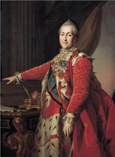 Portrait of Catherine II - Dmitry Levitzky