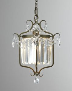 For the butler pantry, gorgeous ceiling plate!!!!  Murray Feiss Gianna Chandelier
