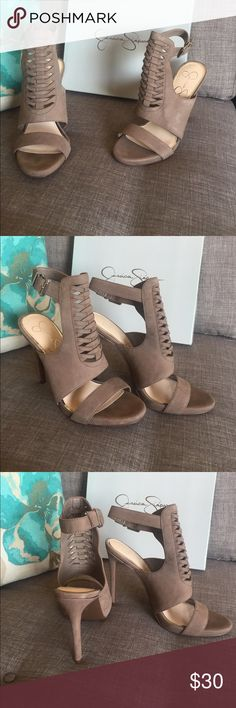 Jessica Simpson Heels Color , Taupe . Never worn Jessica Simpson Shoes Heels