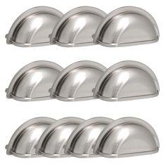 10pcs 3u0027u0027 brushed satin nickel cabinet pull drawer handle knob kitchen pull cupu2026