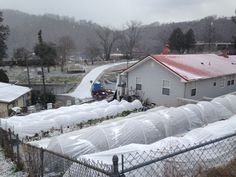 Grow in winter without glass or clear plastic! Find success with fabric row covers, down to at least -14F (-26C)!