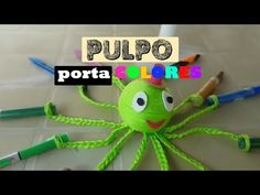 Pulpo porta colores - YouTube Crochet For Kids, Ideas Para, Diy, Costa Rica, Youtube, Crochet Octopus, Pencil Holders, Colors, Craft