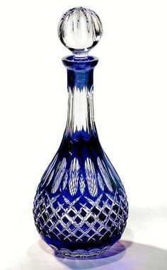 Crystal cobalt decanter