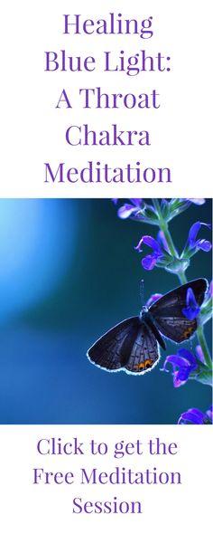 Healing Blue Light: A Throat Chakra Meditation Thyroid Symptoms, Thyroid Diet, Thyroid Gland, Thyroid Disease, Thyroid Health, Hypothyroidism Diet, Throat Chakra Crystals, Throat Chakra Healing, Free Meditation