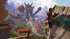 Iron Galaxy's ogre-slaying action game Extinction looks slick