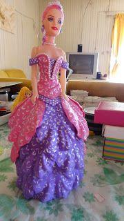 Herthal art's:  Boneca princesa rosa em e.v.a
