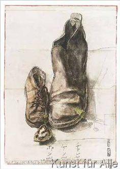 Horst Janssen - Schuhe Oslo (43,0 x 60,0 cm)