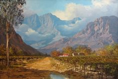 Michael Albertyn Senior studied art under well-known artists, W H Coetzer, Victor Visser and later at the University of Stellenbosch. He is the great grandson of Otto Landsburg, an internationally acclaimed artist from Germany and the grandson of H O Jeppe, a pioneer in the diamond and gold industry in South Africa who was also a gifted artist. Landscape Photos, Landscape Art, Landscape Paintings, South Africa Art, South African Artists, Palette Knife Painting, Art For Art Sake, Cool Landscapes, Art Studies