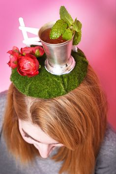 Jess's fascinator is dedicated to bourbon. | How To Make The Kentucky Derby Hat Of Your Dreams