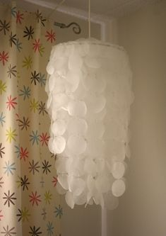 DIY Faux Capiz Shell Chandelier/Mobile