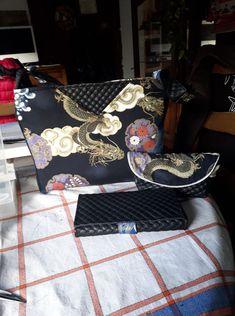 Sac Mambo en tissu japonais et simili matelassé cousu par Michele - Patron Sacôtin