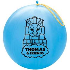 Thomas the Train Punch Balloon    Our re-inflatable Thomas Punch Balloons make great party favors for children ages 8 and up. Assorted colors.