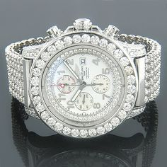 Breitling Diamond Watch. Let your wrist sparkle! http://www.thesterlingsilver.com/product/michael-kors-mk5841-33mm-multicolor-steel-bracelet-case-mineral-womens-watch/