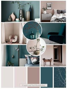 I just love Farrow and Ball's Sulking room pink so have created a mood board showcasing this popular paint colour together with a blueish teal. Perfect colour palette for a bedroom. For more detail please get in touch. Teal Rooms, Teal Living Rooms, Living Room Color Schemes, New Living Room, Living Room Designs, Living Room Decor, Teal Walls, Pink Room, Bedroom Colour Palette