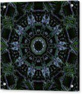 Green Mandala Acrylic Print by Jodi DiLiberto