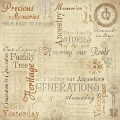 Ancestry Memories Collage Background