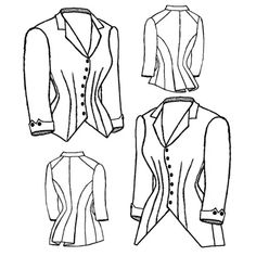 Schnittmuster Truly Victorian TV 464 1883 Riding Habit Bodice