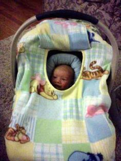Baby Carrier Cozy Cover Up In Winnie the Pooh Fleece Print for Infant Car Seats $27.50