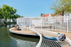 OBBA completes a floating pavilion on the canals of Bruges Floating Architecture, Plans Architecture, Landscape Architecture Design, Landscape Plans, Architecture Events, Classical Architecture, Ancient Architecture, Sustainable Architecture, Urban Landscape
