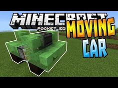 cool MOVING CARS in MCPE!!! - 0.15.1 Slime Block Creation - Minecraft PE (Pocket Edition)