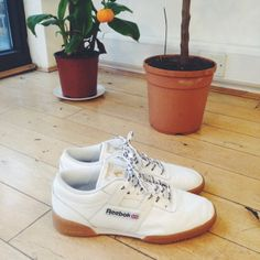 A pair of sample Reebok X Palace Skateboard sneakers worn on photoshoots.  We found these 2be537677