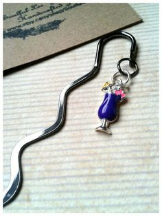Metal Bookmark Cocktail Drink by SoulfulLeeYours on Etsy, $12.00