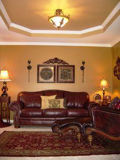black gold burgundy living room - Google Search